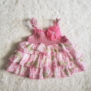 Little lass baby dress size 3-6 months